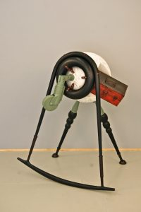 green wheel tri-pod